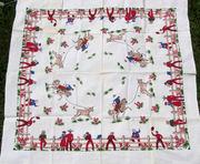 """<a href=""""http://www.rickrack.com/tc/tc628.html"""">Vintage Startex Cowboys tablecloth</a>"""