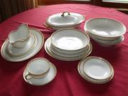 Haviland Limoge china set for 12 with serving pieces