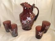 Hand painted Victorian water set