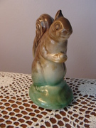 Vintage Pottery Squirrel Holding a Nut