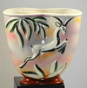 1950s Mid Century Modern  Made In Japan Gazelle Vase