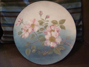 Handpainted Wild Pink Roses English Pottery Plate