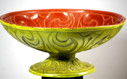 Mid Century California Ware Pottery Console Bowl