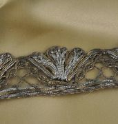 Silver and Gold Metallic Torchon Lace Trim