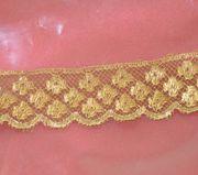 7 yards Gold Metallic Lace