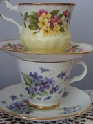 CUPPA Tea  - Floral Bone China Tea Cups
