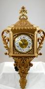 Vintage 1970s  Burwood Hollywood Regency Style Gold Ornate Wall Clock