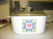 Corning Ware Quilt covered casserole