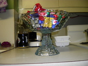 Jeannette Glass, Louisa footed candy dish