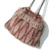 Antique Beaded Reticule Flapper Bag