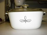 Corning Ware Trefoil casserole