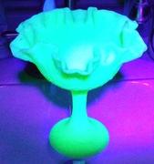 Fenton Uranium Glass compote