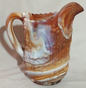 Imperial slag glass pitcher