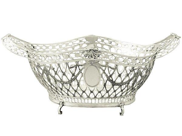 Judaica Silver Fruit Basket/Centrepiece - Edwardian Style - Vintage Circa 1990
