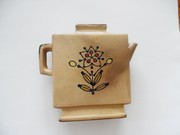 """Vintage Collectible Vase, Teapot, Flower and Turtle, 5"""" Tall"""