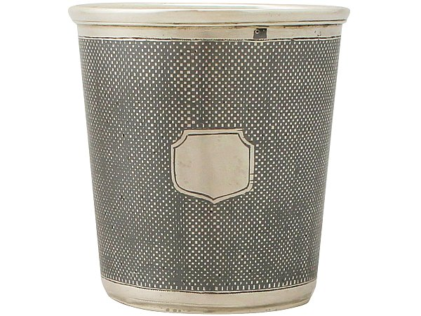 Russian Silver and Niello Enamel Beaker - Antique 1865