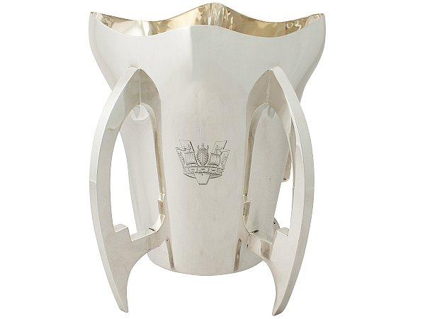 Sterling Silver Presentation / Champagne Cup - Art Nouveau Style - Antique Edwardian