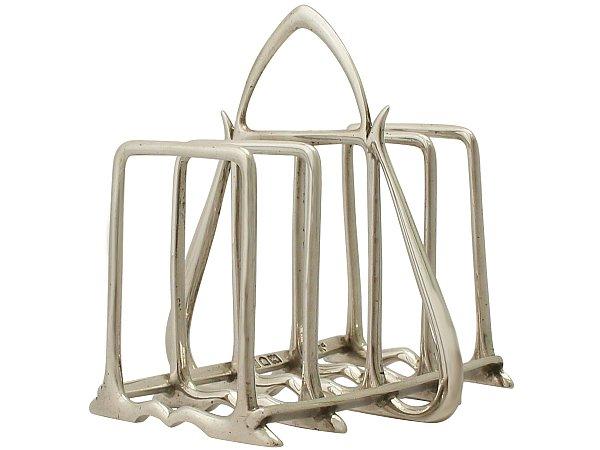 Sterling Silver Toast/Letter Rack - Art Nouveau Style - Antique Edwardian