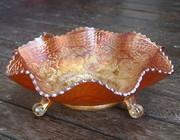 Footed Bowl - Fenton Marigold Carnival Glass