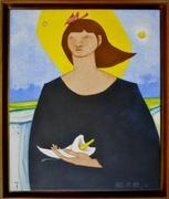 """Acrylic on Canvas,""""Mujen Con Ceila"""", Paul del Rio"""