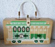 1966 Enid Collins Wooden Box Bag