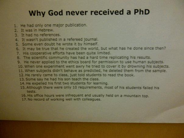 The things you find on biology professor's doors