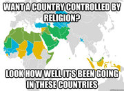 Want a country controlled by religion