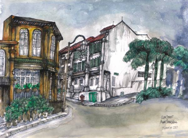 Junction of Ann Siang Hill and Club Street