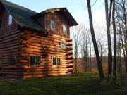 The cabin and the view!