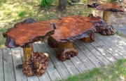 Redwood Coffee Table set