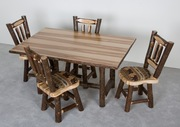 Hickory Dining Set - Upholstered Seats