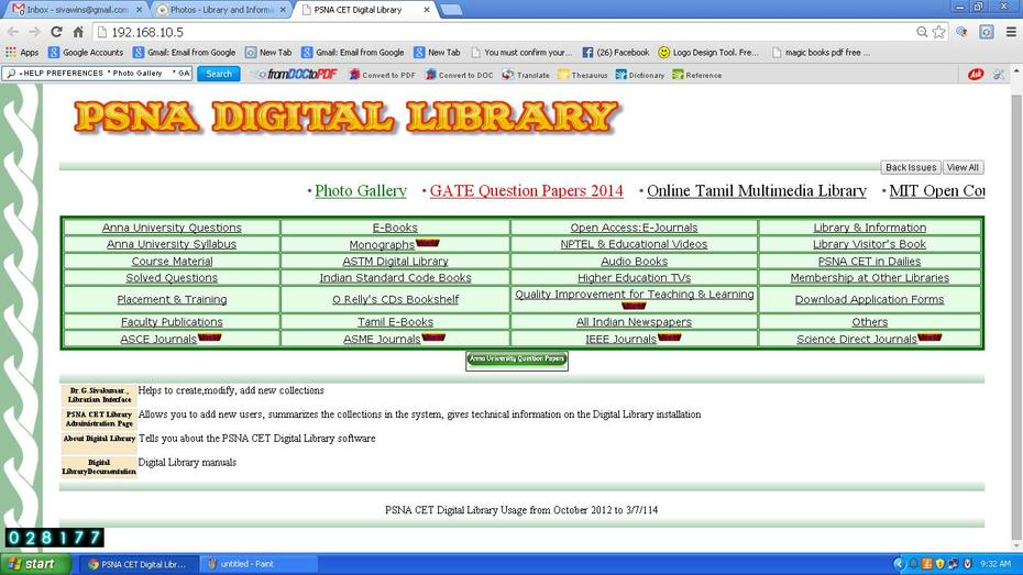 PSNA Digital Library Home Page