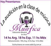 Logo vectorizado musifica radio sábado 21