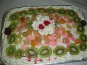 pastel de 3 leches reyeno crema y frutas