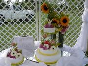 decoracion torta de bodas