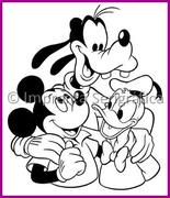 5140.Mickey Donald Goofy sirve como  molde