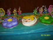 cake flor y carita tinkerbell