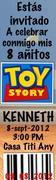Invitación de toy story