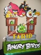 centro de mesa o adorno torta angry birds