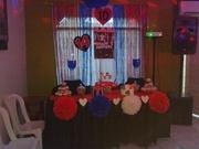 one direction decoracion de mesa y torta