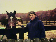 Me with a horse friend of mine.