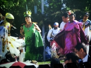 Shinnecock Rez Powwow, Koli in green2.
