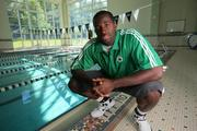 Brando Bass, Boston Celtic Learns to Swim, Boston Globe