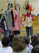 Kids in Mary Jo Maichack's dress-up storytelling