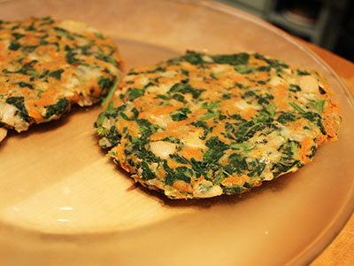 Amaranth and Cannellini Patties