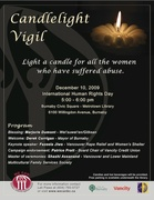 Poster for Candlelight Vigil 2009