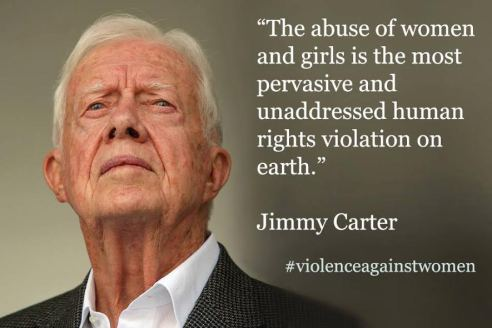 Jimmy Carter's call for an end to violence against women