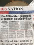 Five NGO workers gangraped at gunpoint - India Times Nation