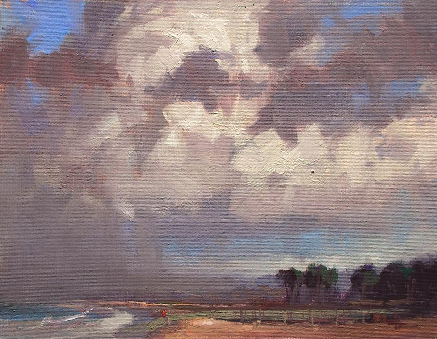 "Evening Clouds - 8x10"" SOLD"