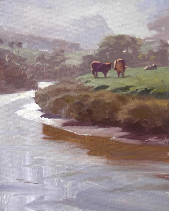 "Morning, Waipu River 9x12"""